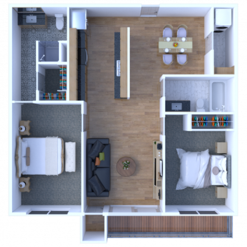 2 Bedroom 2 Bathroom Apartment - View