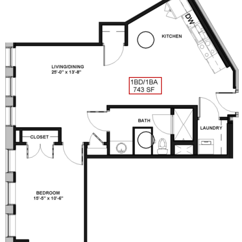 Floor Plan 5 | Apartments For Rent In Rochester Ny | Spectra at Sibley Square
