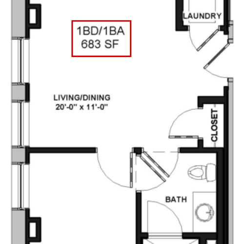 Floor Plan 7 | Apartments In Rochester Ny | Spectra at Sibley Square