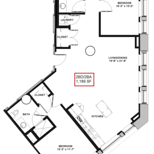 Floor Plan 18 | Rochester Apartments | Spectra at Sibley Square