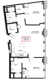 Floor Plan 19 | Rochester Ny Apartments | Spectra at Sibley Square