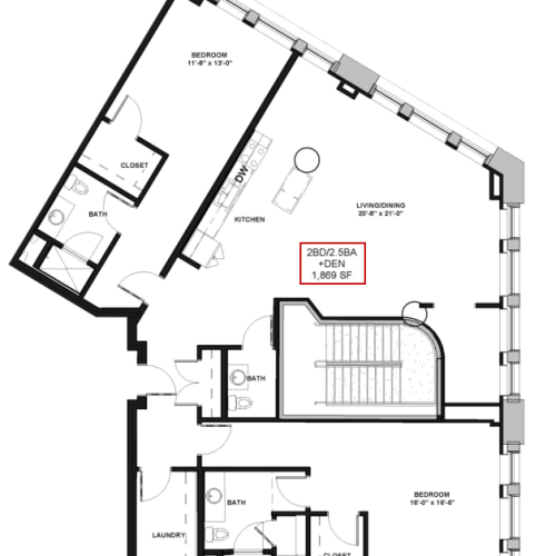 Floor Plan 27 | Apartments In Rochester Ny | Spectra at Sibley Square