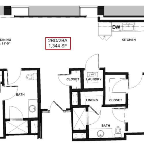 Floor Plan 23 | Rochester Apartments | Spectra at Sibley Square