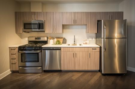 Modern Kitchen | Apartments For Rent In Rochester Ny | Spectra at Sibley Square