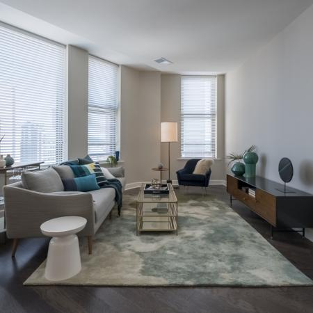 Elegant Living Room | Apartments In Rochester Ny | Spectra at Sibley Square
