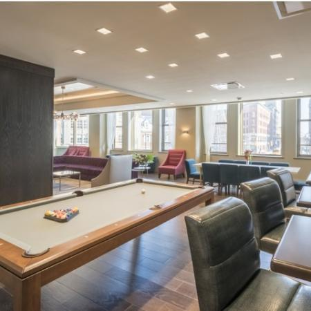 Resident Game Room | Apartments in Rochester | Spectra at Sibley Square