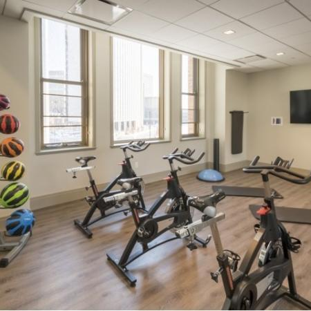 Cutting Edge Fitness Center | Rochester New York Apartments | Spectra at Sibley Square
