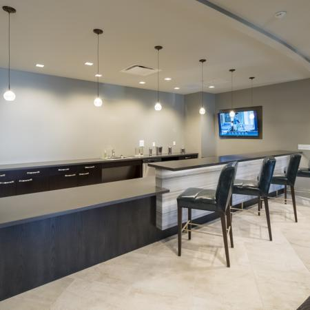 Resident Kitchen and Bar | Apartment Homes In Rochester | Spectra at Sibley Square