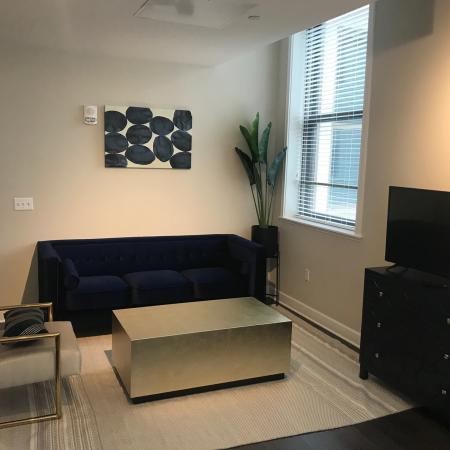 Studio Living Space | Apartments In Rochester Ny | Spectra at Sibley Square
