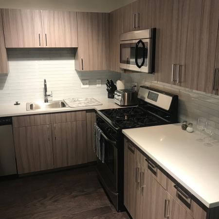 Studio Kitchen | Apartments In Rochester Ny | Spectra at Sibley Square