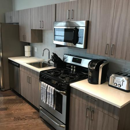 One Bedroom Kitchen | Apartments In Rochester Ny | Spectra at Sibley Square