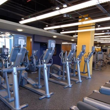 Luxury fitness center: Amenities   Sky55 apartments at Central Station