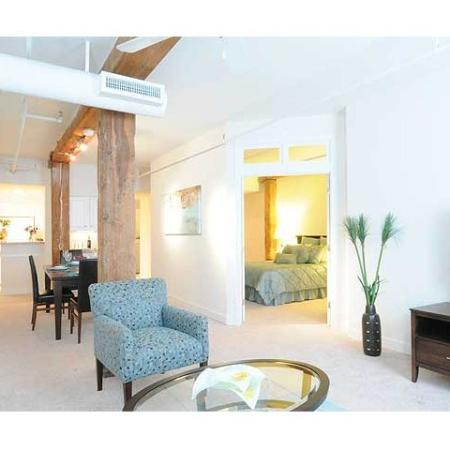 Connected living spaces make up each of our Richmond rentals at Cameron Kinney