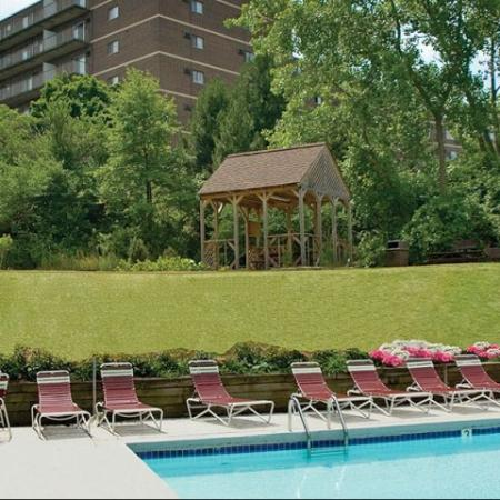Relaxing pool | apartments for rent in Parma Ohio