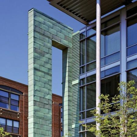 Exterior Detail of Loft 23 Apartments in Cambridge