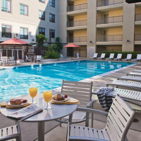 Luxury Amenities: Pool Area | The Uptown
