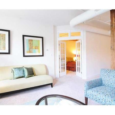 Expansive living rooms center each of our Richmond VA apartments at Cameron Kinney
