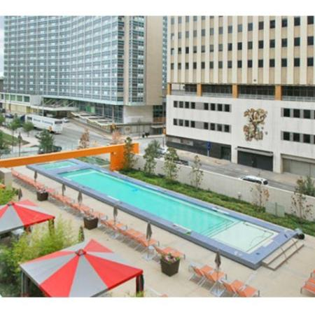 Luxury Amenities: Pool Area | The Element Mercantile Place Apartments