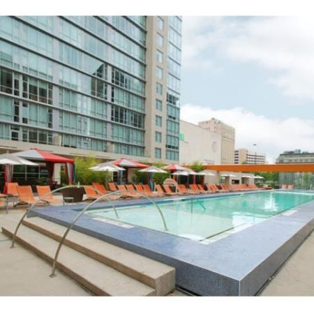 Luxury Pool | The Element Mercantile Place Apartments