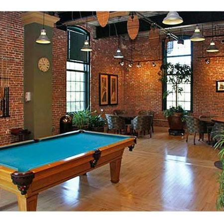 Billiards table at The River Lofts | Cumberland Apartments