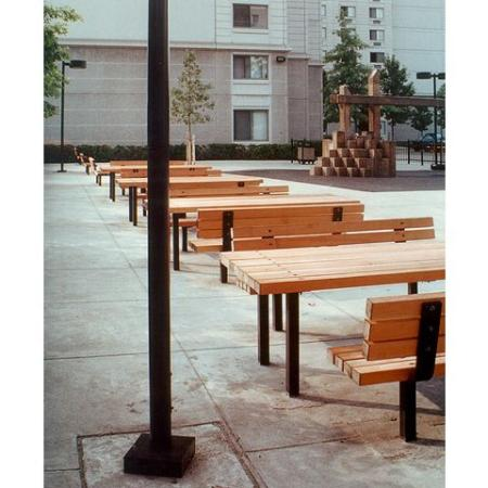 Queenswood Apartments, exterior, picnic tables and benches, building exterior, tall and gray, trees