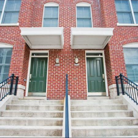 richmond rental townhouse with red brick