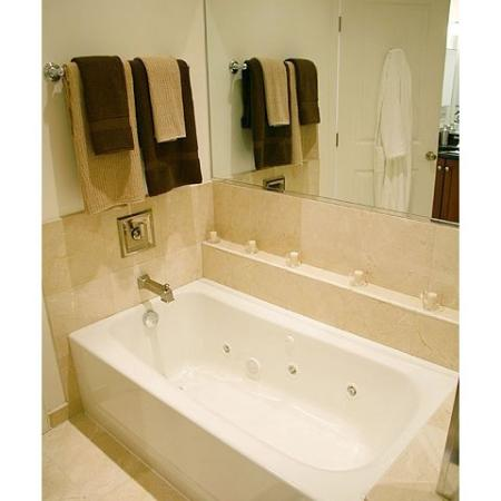 luxury bath jet tub with mirror