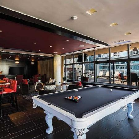 Luxury Amenities: Game Room | The Continental Mercantile Place Apartments
