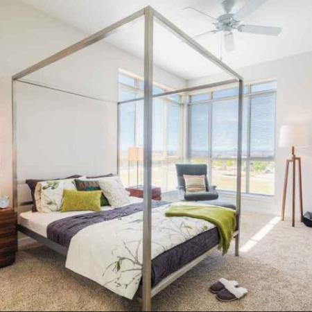 spacious bedrooms in our luxury apartments in Denver CO