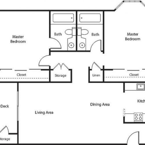 Floor Plan 17 | Bayside Village Apartments