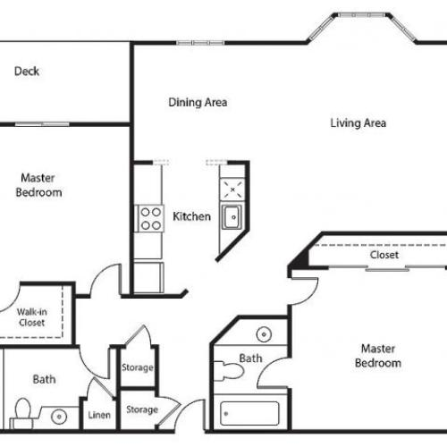 Floor Plan 19 | Bayside Village Apartments