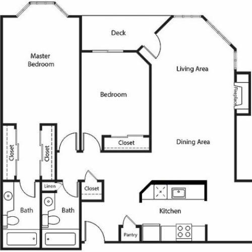 Floor Plan 21   Bayside Village Apartments