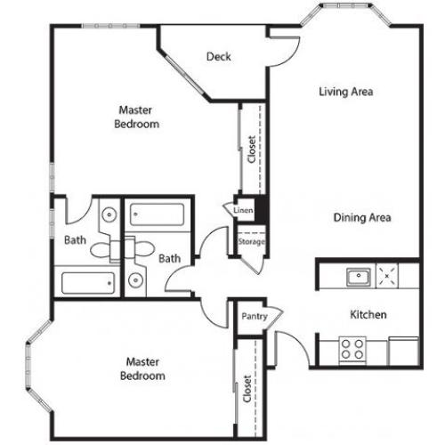 Floor Plan 27 | Bayside Village Apartments