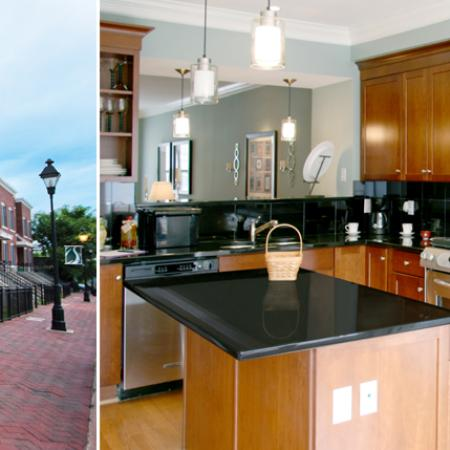 cutters ridge collage of townhouse and kitchen in richmond