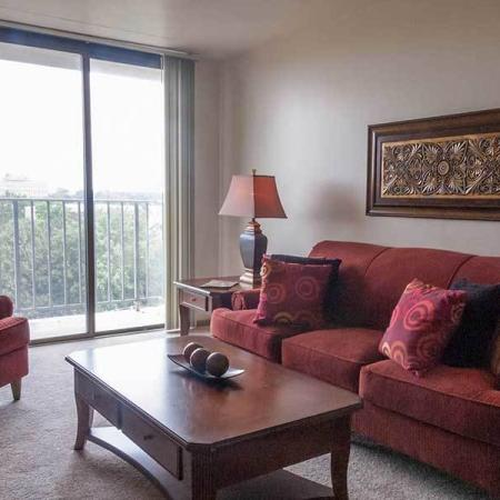 Bright Living Areas and Balconies | Independence Place Apartments