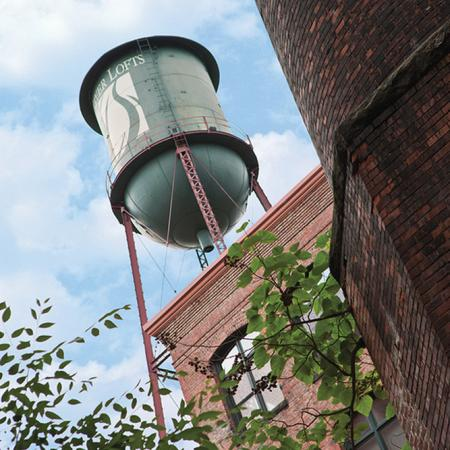 historic river lofts water tower