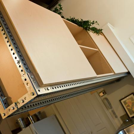 kitchen cabinets over breakfast bar