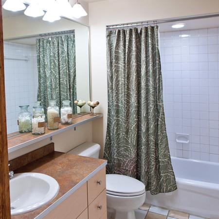 modern apartment bathroom in richmond