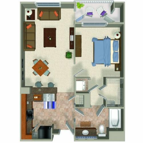 1 Bed / 1 Bath Apartment in Renton WA | Sanctuary Apartments