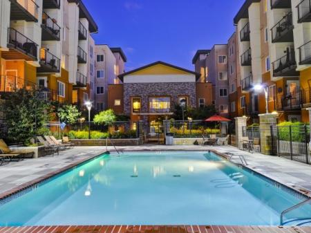 Pool and spa at The Reserve Apartments in Renton, WA
