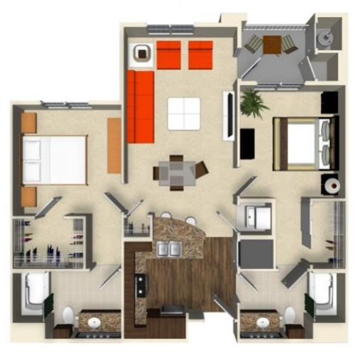 2 Bed 2 Bath Apartment In San Jose Ca The Verdant Apartments