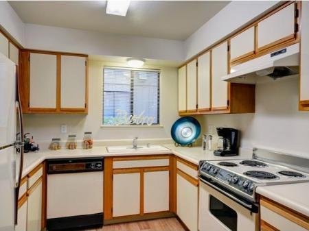 Kitchen at Bennington Apartments in Fairfield, CA