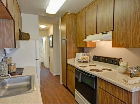 Kitchen at Baycliff Apartments, 2300 Lancaster Drive, Richmond, CA
