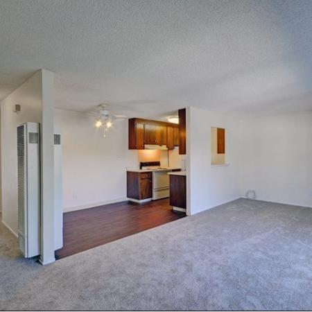 Spacious living spaces at Wyndover Apartment Homes in Novato, CA