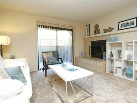 Living room at Bennington Apartments in Fairfield, CA