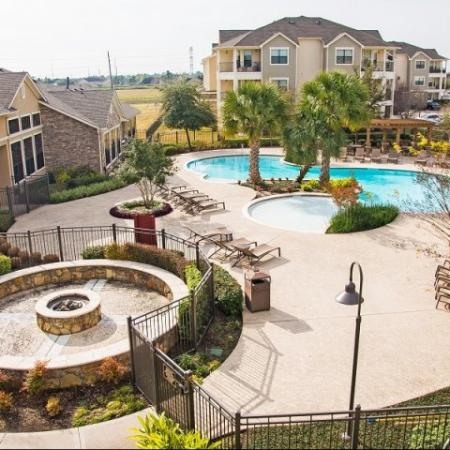 Aerial shot at Lakeland Estates Apartment Homes in Stafford, TX