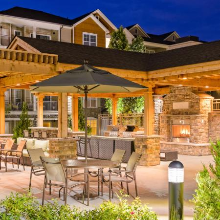 Polside BBQ grills and picnic areas at Ashley on the Greenway in Ashburn, VA