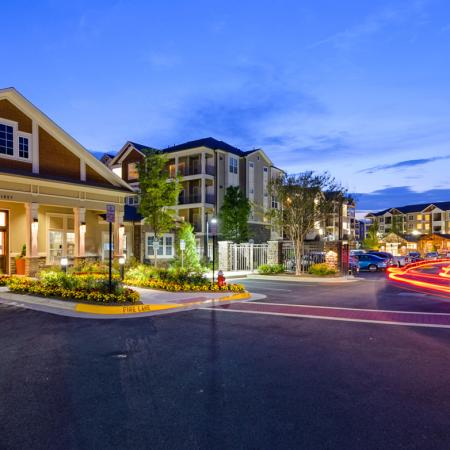 Gated community at Atley on the Greenway in Ashburn, VA