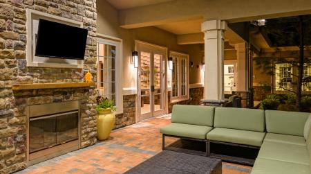 TV lounge at Atley on the Greenway in Ashburn, VA