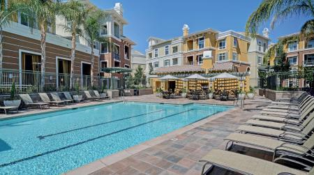 The Verdant Apartments Pool and spa with WiFi access in San Jose, CA